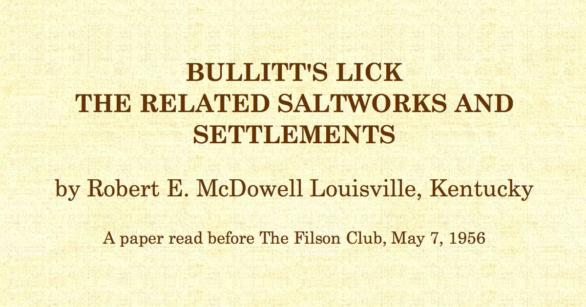 For Buffalo lick run understood not